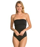 Jantzen Solid Pin Tucked Bandeau One Piece