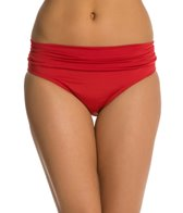 Jantzen Solid Shirred Waisted Bikini Bottom