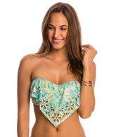 Athena SwimwearPool Paisley Ruffle Bandeau Bikini Top