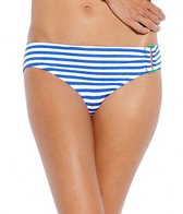 Jag Swimwear Bel-Air Stripe Side Ring Scoop Bikini Bottom