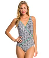 Jag Neo Tribal Surplice One Piece Swimsuit