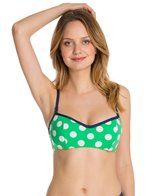 Jag Swimwear Mare Dot Reversible Underwire Bra Bikini Top