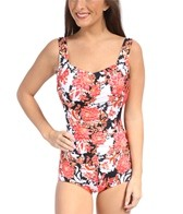 Maxine Fine Romance Shirred Front Girl Leg One Piece Swimsuit