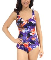 Maxine Island Love Shirred Polyester Front Girl Leg One Piece