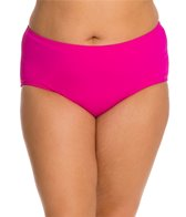 Sunsets Plus Size Solid High Waist Bottom