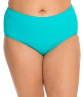 Sunsets Plus Size Tropical Teal High Waist Bottom