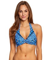 Sunsets Indigo Underwire Twist Halter Bikini Top