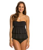 Sunsets Black U-Wire Bandeau D/DD Cup Tankini Top