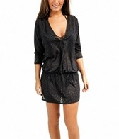 Sunsets Coastal Crochet Black Traveler Tunic