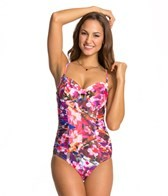 Swim Systems Hothouse Blooms Underwire Bandeau One Piece