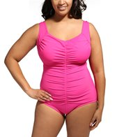 maxine-plus-size-tricot-shirred-front-girl-leg-one-piece