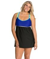 delta-burke-plus-size-sporty-solid-racerback-swim-dress