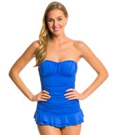 Kenneth Cole Haute Wave Smocked Swim Dress