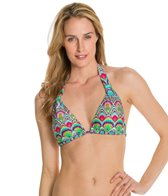 Kenneth Cole Marbeled MOD Tri-Halter Bikini Top
