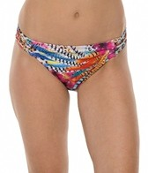 Kenneth Cole Reaction Fancy A Flight Bandeau Hipster Bikini Bottom