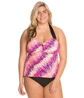 South Point Painted Sea Glass Plus Size Beach Breeze Camikini Top