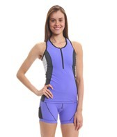 Active Angelz Women's Luisa Zip Front Racerback Tri Top