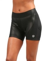 Active Angelz Women's Tamara Gloss 4 Inch Tri Shorts