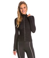 Active Angelz Women's Adriana Long Sleeve Jacket with Ruching