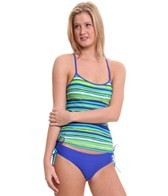 reebok-fitness-hannah-stripe-side-shirred-tankini-top