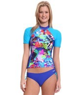 Reebok Fitness Shelby Blue Coverup Rash Guard Top