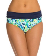Beach House Clearwater Floral Fold Over Shirred Bikini Bottom