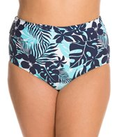 Beach House Plus Size Newport Tropical Fold Over High Waist Bottom