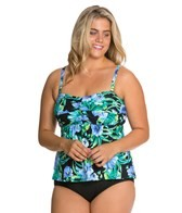beach-house-plus-size-st.-augustine-floral-bandeau-tankini-top
