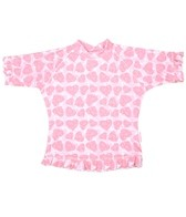 Sun Emporium Girls' S/S Sun Shirt with Piping and Frill (4-8)