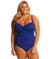 La Blanca Plus Size Core Solid Sweetheart One Piece Swimsuit