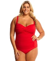 La Blanca Plus Size Core Solid Sweetheart One Piece Swimsuit