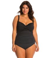 La Blanca Plus Size Core Solid Sweetheart Mio One Piece Swimsuit