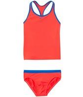 Nike Girls' Core Solid Racerback Tankini Two Piece Set (7yrs-14yrs)