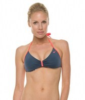 Nike Beach Tie Die High Support Halter Bra Top