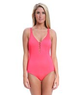 Seafolly Shimmer Lattice Back One Piece