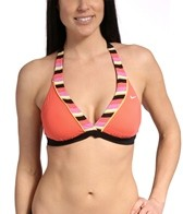 Nike Swim Women's Hyper Lines Reversible Halter Bra Top