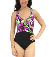 Longitude Ghana Side Wrap Tank One Piece Swimsuit