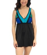 longitude-between-the-lines-v-neck-swimdress
