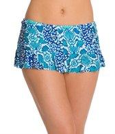 La Blanca Serpentina Ruffle Swim Skirted Hipster Bikini Bottom