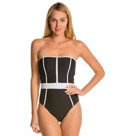 La Blanca Lets Bond Bandeau One Piece Swimsuit