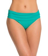 La Blanca Core Solid Shirred Band Hipster Bikini Bottom