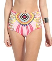 Mara Hoffman Rays Lattice High Waisted Bikini Bottom