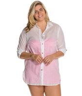 Anne Cole Plus Size Boyfriend Shirt