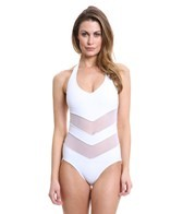 Anne Cole Mesh'N Possible Mesh Halter One Piece