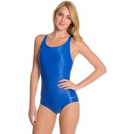 Sporti Polyester Conservative Solid Swimsuit