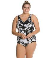 Sunmarin Sansibar Floral Tummy Control Plus Size One Piece
