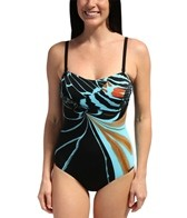 Sunmarin Jamaica Graphic Bandeau One Piece
