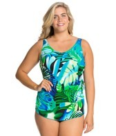 t.h.e.-animated-amazon-plus-size-classic-sarong-sheath-mastectomy-one-piece