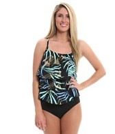 Topanga Mediterranean Triple Tier Mastectomy Tankini Top