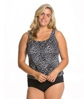 Topanga Ice Crystal Plus Size Tank Strap Tankini Top